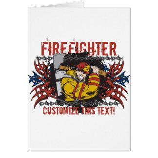 Cartão Sapador-bombeiro tribal