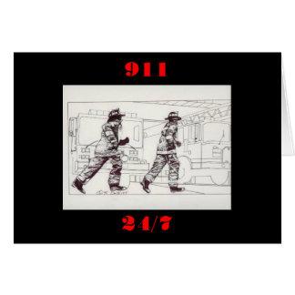 Cartão Sapadores-bombeiros na engrenagem