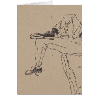 Cartão Sapatilhas magros