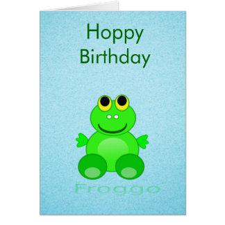 Cartão Sapo bonito de Froggo