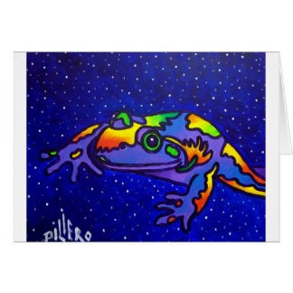 Cartão Sapo do arco-íris por Piliero
