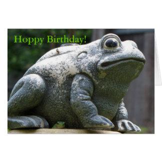 Cartão sapo Hoppy feliz do irmão do aniversário