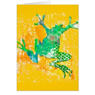 Cartão Sapo verde bonito