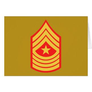 Cartão Sargento major E-9 do USMC SgtMaj
