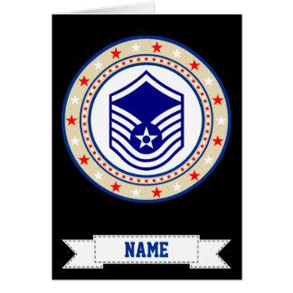 Cartão Sargento mestre MSgt E-7 da força aérea