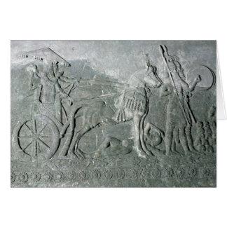 Cartão Sargon II em um Chariot da batalha