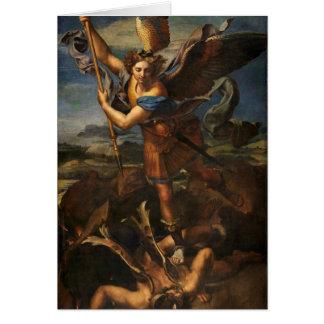 Cartão Satã vencendo de St Michael