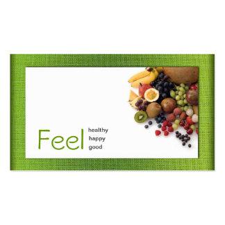 Cartão saudável branco simples de linho do verde a modelos cartoes de visitas