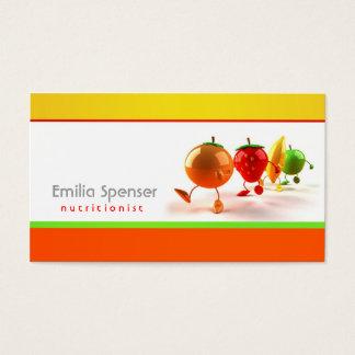 Cartão saudável simples do branco, o amarelo & o
