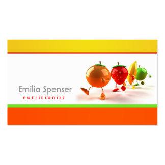 Cartão saudável simples do branco, o amarelo & o a modelo cartoes de visita
