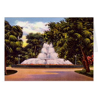 Cartão Savana, fonte do parque de Geórgia Forsyth