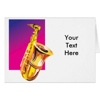 Cartão Saxofone jazzístico