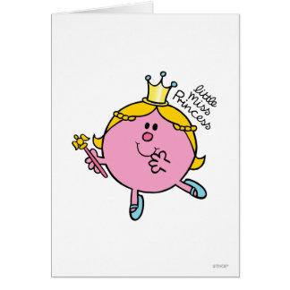 Cartão Scepter real pequeno da senhorita princesa |
