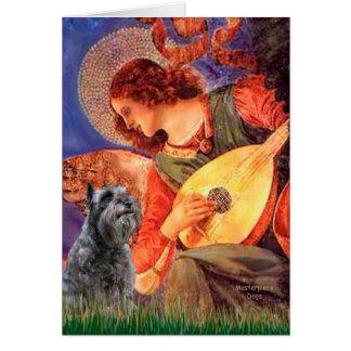 Cartão Schnauzer 12 - Anjo do bandolim