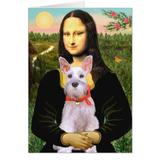 Cartão Schnauzer 9N - Mona Lisa