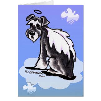 Cartão Schnauzer da perda do animal de estimação