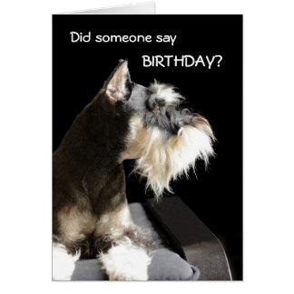 Cartão Schnauzer do aniversário