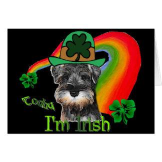 Cartão Schnauzer do dia do St. Patricks mini
