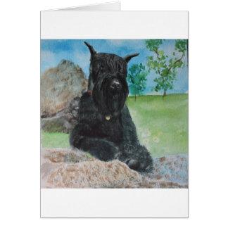 Cartão Schnauzer gigante preto