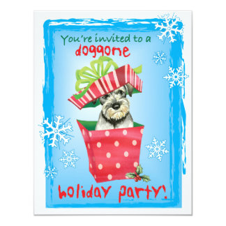 Cartão Schnauzer padrão feliz de Howliday