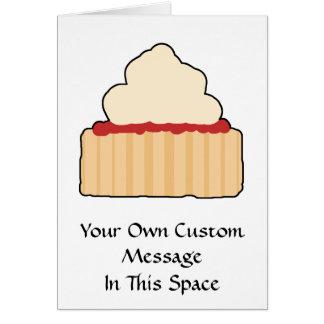 Cartão Scone do doce com cobertura de creme