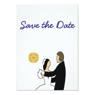 Cartão Scottish e tema celta do casamento do casal