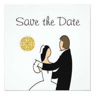 Cartão Scottish, economias celtas do casamento do casal a