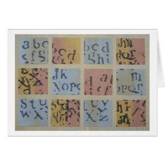 Cartão Scrabbling
