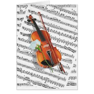 Cartão Se a música for a comida do amor….