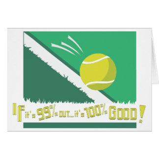 Cartão Se é 99% para fora é 100% bom! Regras do tênis