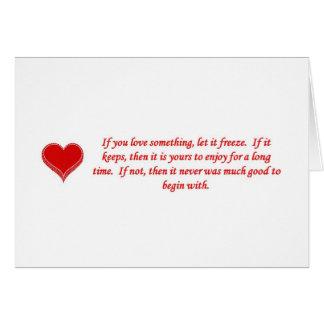 Cartão se-você-amor-algo-deixar--gelo