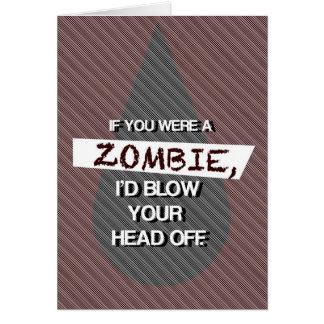 Cartão Se você era um zombi