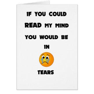 Cartão se você poderia ler minha mente você estaria em