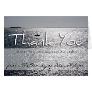 Cartão Seascape 1 obrigado memorável da simpatia você