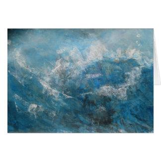 Cartão seascape abstrato
