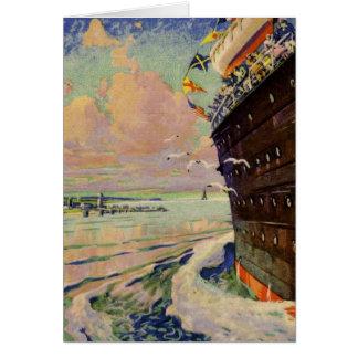 Cartão Seascape do forro de oceano