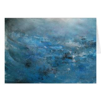 Cartão Seascape tranquilo abstrato