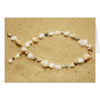 Cartão Seashell Ichthys