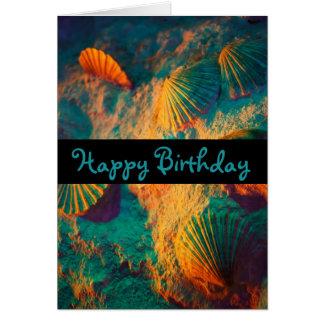 Cartão Seashells e areia