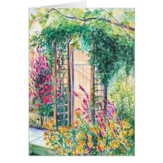 Cartão secreto do jardim do verão de PMACarlson