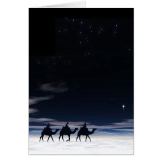Cartão Seguindo além a estrela