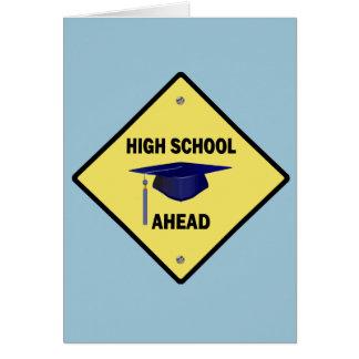 Cartão Segundo grau amarelo do sinal da estrada adiante
