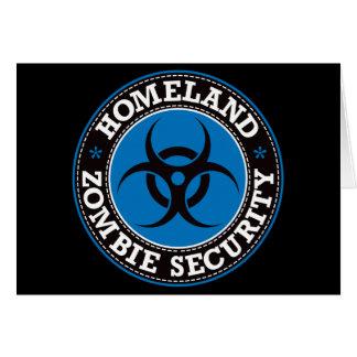 Cartão Segurança do zombi da pátria - B azul
