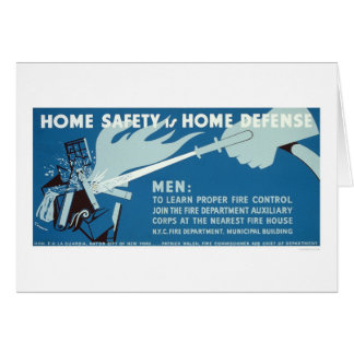 Cartão Segurança NYC do controle de fogo WPA 1942