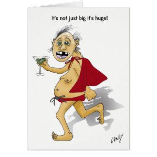 Cartão Segurança social do aniversário super velho do