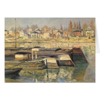 Cartão Seine em Asnieres por Claude Monet, impressionismo