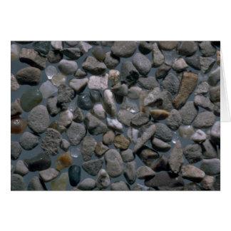 Cartão Seixos bonitos da praia da ágata, Bolinas