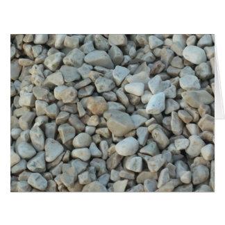 Cartão Seixos na fotografia da pedra da praia