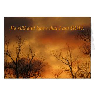 Cartão Seja ainda e saiba que eu sou 46:10 dos salmos do