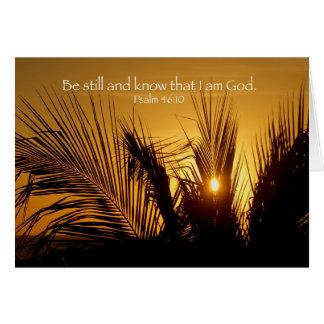 Cartão Seja ainda por do sol